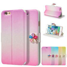 Hybird Luxury PU Leather Magnetic Flip Wallet Stand Cover Case For Apple iPhone