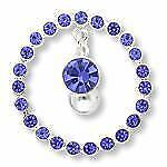 14g Reverse Belly Ring With Circle-of-Gems Navel Shield & Dangling Jewel