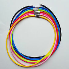 Rubber Cord Necklace 3mm Bayonet Clasp 8 Pack Necklaces you pick color