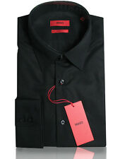 BOSS HUGO Business shirt C-Enzo ( Regular Fit ) black 100% Cotton