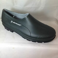 MENS GARDENING SHOES CLOGS GARDEN WALKING WELLIES DUNLOP GREEN RUBBER RAIN