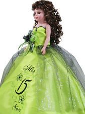 NEW Hand Crafted Quinceanera Doll For Girl Birthday Party Q2066