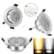 9W LED Recessed Ceiling Down Fixture Light Spot Lamp Light & Lamp driver 85-265V