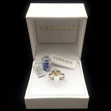 NWT $295 Versace Men's Women's Slim Iconic Gold Medusa Logo Ring Italy AUTHENTIC