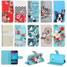 Cute Stand Holder PU Leather Flip Wallet Case Cover For Samsung Galaxy J5 S6 S7