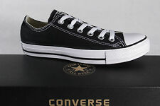 Converse All Star Lace Up Sneaker Black, Textile/Canvas, NEW