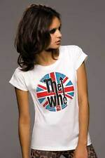 T-Shirt The Who, Shirt for women rock, logo effect aged, cotton organic