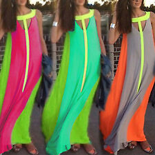 Sexy Women Ladies Summer Chiffon Long Boho Maxi Dress Evening Party  Beach Dress