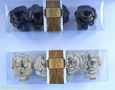 SET OF FOUR DISTRESSED ROSE TABLE CLIP - WEDDINGS, PARTIES, PICNICS