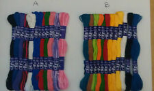 12 X QUALITY EMBROIDERY THREAD/FLOSS, ASSORTED COLOURS. EACH SKEIN IS 7 METRES.