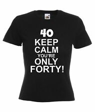 Womens 40th Birthday Present Forty Gift Retro Ladies T-Shirt Sizes 8-18 New