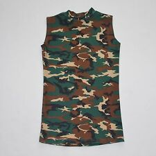 MENS' SLEEVELESS COMPRESSION SHIRT CAMOUFLAGE SPANDEX SIZE S M L XL NWOT