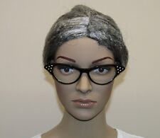 Grey Granny Wig Grandma Nun Secretary Old Woman Ladies Fancy Dress.