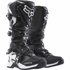 NEW FOX RACING BOYS YOUTH KIDS COMP 5 BLACK MX MOTOCROSS BOOTS RIDING RACING