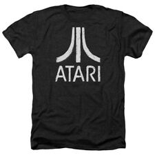 T-Shirts Size S-2XL New Authentic Atari Rough Logo Heather Mens T-Shirt