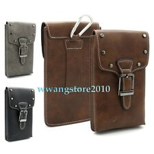 Rivet Cowboy Retro Leather Pocket Belt Holster Case Pouch Cover For Cell Phone