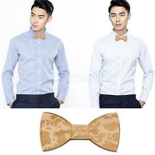 Novelty Wooden Natural BOW TIE Wood Bowtie Magnet Adults Accessory Wedding Party
