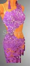 U3505 Competition Ballroom women rumba latin salsa swing dance dress Tailor made
