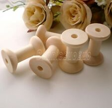 Small Wooden Spools thread ribbon twine reel organizer Zakka Bobbin Sewing