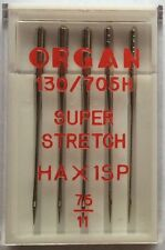 Organ Overlocker Needles HAx1SP Super Stretch Pack Of 5, Choice Of Sizes