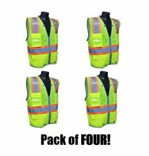 RADIANS SV6HG SAFETY Hi-Viz Class 2 Heavy Duty Two-Tone Surveyor Vest Pack of 4!