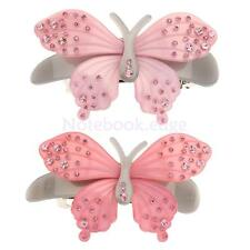 Crystal Rhinestone Acrylic Butterfly Barrette Hair Clip Clamp Hairpin