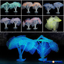 Artificial Fluorescent Cocal Plant Lanpscape Silicone Fish Tank Aquarium Decor