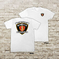 1st Battalion, 3rd Marines Regiment USMC Marine Corp WWII Black or White T-shirt