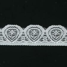 New 5/3Yard Different Wide Lotus Floral Stretch Lace Trim DIY Sewing Applique