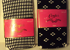 Womens Candies Brand Black Tie Tights Fishnet or Holes Size Small Medium