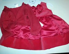 Infant Girls Carters Brand Red Christmas Holiday Dress & Sweater Size 3M 18M
