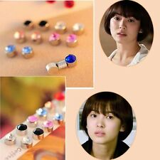 Fashion Non Piercing Clip on Magnetic Magnet Crystal Ear Stud Unisex Earrings