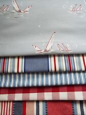 Emily Bond childrens collection/Mankin/ large fabric bundle blue/red colourway