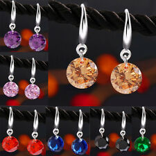 Charm Hot New Crystal Rhinestone Silver Stud HooK Earrings Fashion Women Jewelry