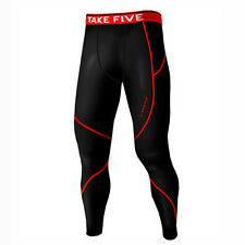 Take Five Mens Lined Skin Tight Compression Base Layer Running Pants NP513 CA