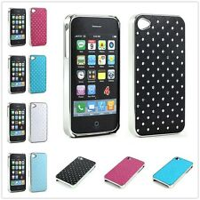 Luxury Crystal Bling Star Diamond Color Chrome Case Cover For Apple iPhone 4 4S