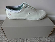 Lacoste Manville tennis AP SRM mens canvas shoes trainers Off white New with box