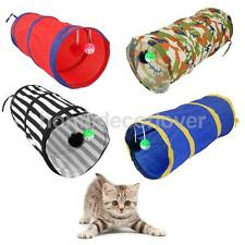 CAT KITTEN POP UP PLAY TUNNEL WITH 2 SUSPENDED BALL PET RABBIT ACTIVITY TOY FUN
