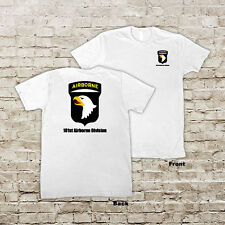 """US ARMY 101 Airborne Division Infantry """"Screaming Eagles"""" White or Black T-Shirt"""