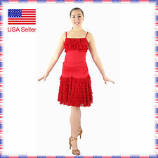 SFC013rd New Ballroom Latin Rhythm Salsa Swing Dance Dress Top Skirt Set