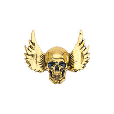 Women Men Vintage Punk Style Angle Wings Skull Brooch Hollaween Pins Jewelry