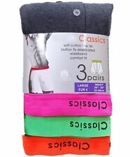 6 Pairs Mens Cotton Rich Boxers Boxer Shorts With Neon Waist Band