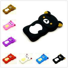Cute 3D Teddy Bear Animal Soft Silicone Skin Case Cover For Apple iPhone 4 4S 4G
