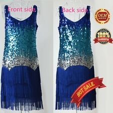 AU 1920's Flapper Party Clubwear Short & Cocktail Sequin Tassel Homecoming Dress