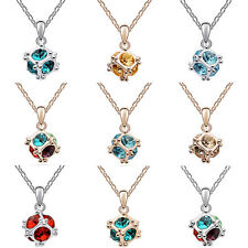 Womens Fashion Bib Silver Chain Crystal Rhinestone Pendant Necklace Jewelry Gift