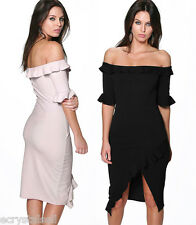 Sexy Off Shoulder Ruffles Womens Evening Formal Party Cocktail Dress Prom Gown
