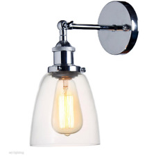 Chrome New Adjustable LED Vintage Retro Industrial Ceiling Glass Wall Light Lamp