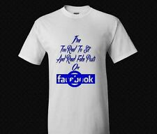 "Funny Tee ""Too Real for Facebook' Black T-Shirt"