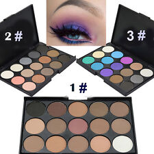 15 Colors Makeup Matte Pigment Eyeshadow Shimmer Eye Shadow Palette Kit Cosmetic