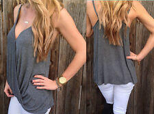 Sexy Blouse NEW T-Shirt cotton Sleeveless Vest Casual Womens Summer
